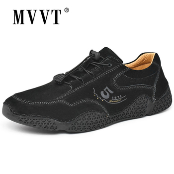 MVVT Suede Leather Casual Shoes Men Sneakers Autumn Man Leather Shoes Comfortable Men Loafers Fashion Men Shoes Walking Zapatos недорого