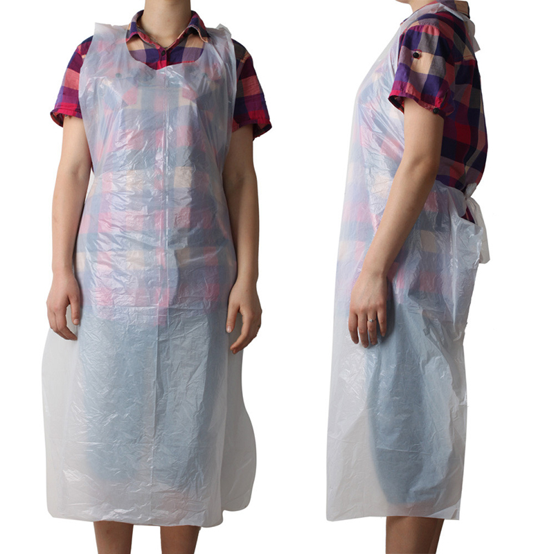 Disposable Polythene Apron Used For Hospitality, Food Industry, Medical, Lab ETC 70X120cm White 10 X Disposable Plastic Aprons