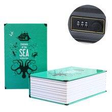 Caixa de senha livro de simulação seguro mini casa código de senha livro de poupança segura pote caixa de armazenamento livro caixa de senha ofício # cw