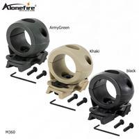 AloneFire M360 große größe Tactical Taschenlampe Berg Clip für Helm Schienen Einzel Clamp Rack Adapter Halterung für Taschenlampe Clip