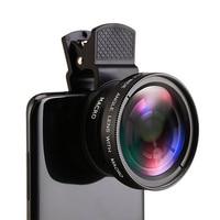 Obiektyw telefonu komórkowego 37mm 0,45x Super szeroki kąt i obiektyw Super makro obiektyw aparatu HD dla iPhone Xiaomi Smartphone obiektyw aparatu 2021
