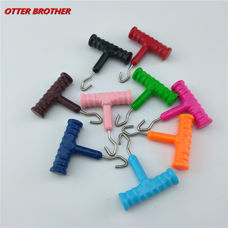1pcs Fishing Sea Stainless Steel Knot Puller Tool Rig Making Carp Terminal Tackle Making Accessories