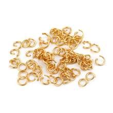 Anillos abiertos de acero inoxidable 304L para la fabricación de joyas, accesorios artesanales para collares, 3-12mm, 200 Uds., venta al por mayor