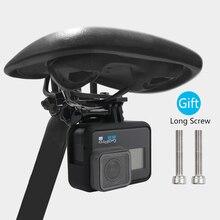 New Aluminum Bike Bicycle Saddle Camera Bike Seat Mount For All GoPro Hero 8 7 6 5 4 3 Camera SJ4000 justone 3d printing 1 4 wristband mount for camera gopro hero 4 2 3 3 sj4000 black