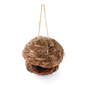 Bird Cage Accessories Decoration Hand Weave Bird House Parrot Hanging Swing Toys Ecology Nest 3