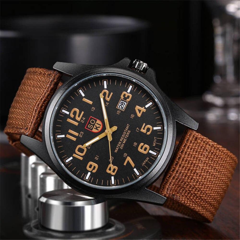 Military Mens Quartz Army Watch Black Couple Sport Wrist Watch Casual Nylon Strap Luminous Watches Relogio Masculino 2019