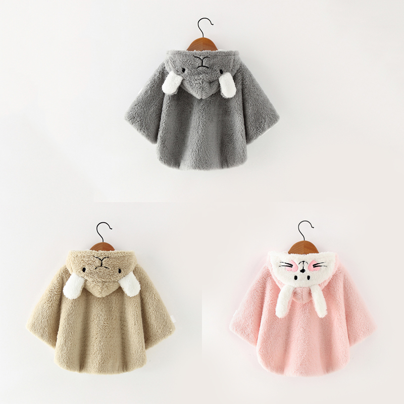 Warm Winter Baby Kid Toddler Thicken Hoodie Cape Cloak Poncho Coat Outwear Cloth