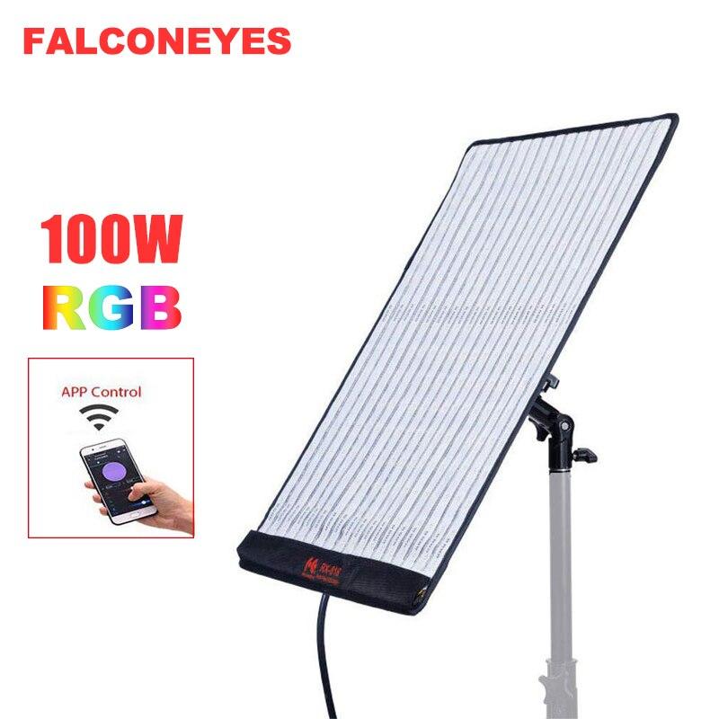 FalconEyes RX 818, 100 Вт, RGB Светодиодный светильник для видеосъемки, Поддержка приложения, дистанционное управление, портативный 21 режим сцены, непр