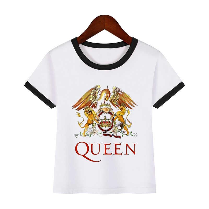 الفتيان والفتيات روك الفرقة ملكة فريدي ميركوري طباعة T قميص الطفل الصبي مضحك ملابس الأطفال تيشيرت صيفي الفتيات أعلى الاطفال قميص