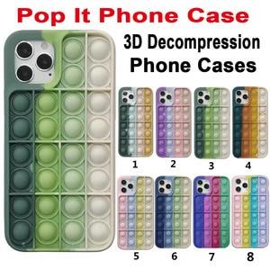 Image 1 - Pop it fidget Phone Case For IPHONE 12 PRO MAX/11 PRO/XS MAX/XR/78 Plus 3D Decompression Silicone Case Bubble Toy Fidget