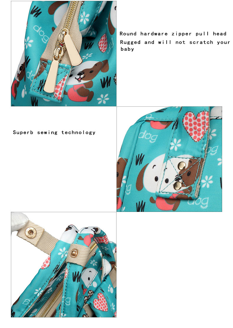 H09682f2e3f3a4c37959010b52bcc8eacG Fashion Mummy Maternity Nappy Bag Waterproof Diaper Bag With USB Stroller Travel Backpack Multi-pocket Nursing Bag for Baby Care