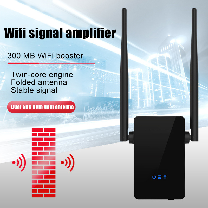 300Mbps WiFi Signal Range Booster Wireless Networks Amplifier Extender Internet Repeater DJA88