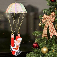 Christmas Home Ceiling Decorations Parachute Santa Claus Smowman New Year Hanging Pendant Christmas Decoration Supplies