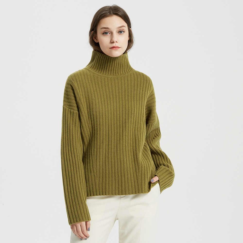 Me & city 2019 울 니트 스웨터 여성 하이 칼라 풀오버 가을 겨울 기본 여성 스웨터 따뜻한 캔디 색상 스웨터