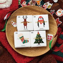 50pcs/lot Christmas Stickers Merry Christmas Decorative Sticker Santa Seal Stickers For Scrapbook Diy Diary Album Decoration цены онлайн