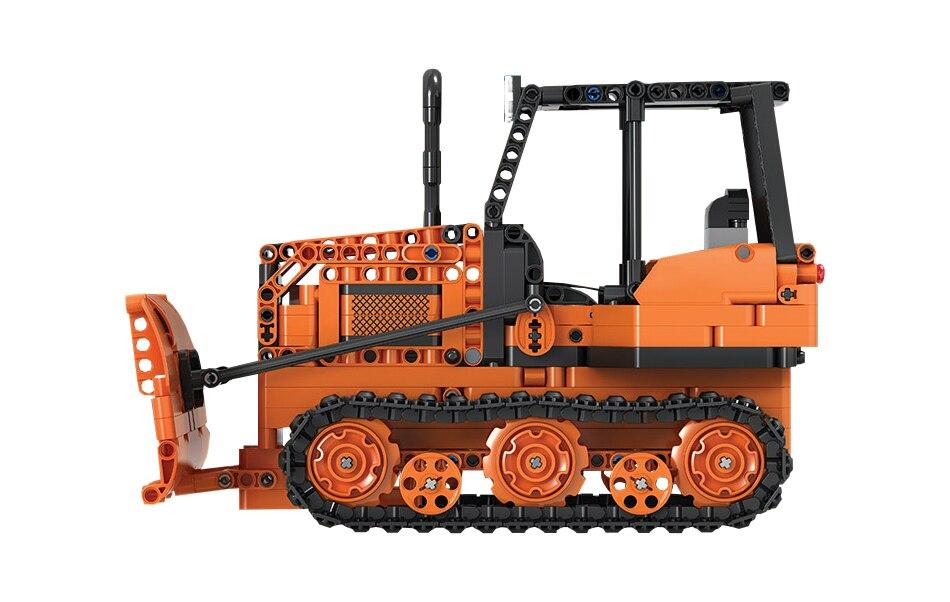 engenharia caminhão blocos construção cidade rc bulldozer