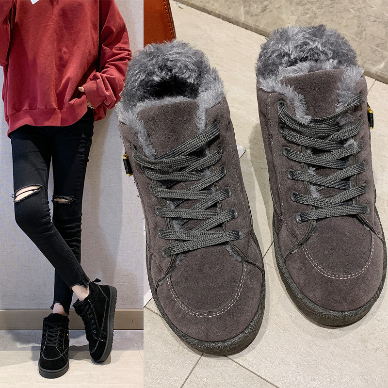 Women's winter sports shoes ladies snow boots casual students warm Martin boots winter plus cotton boots women's cotton shoes 11