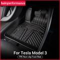 Model3 Zubehör TPE Fußmatten Für Tesla Modell 3 2021 Zubehör fuß matten anti schmutz schutz matten modell drei