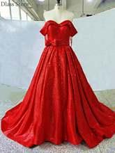 2020 популярное платье для выпускного вечера с блестками ярко