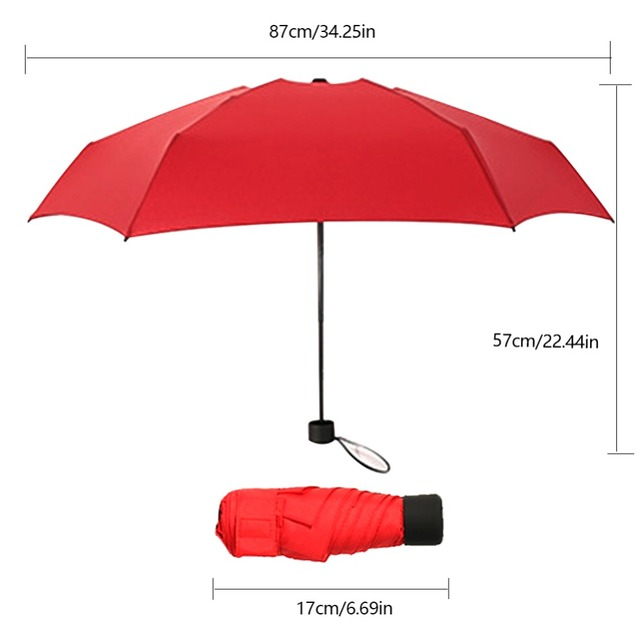 Foldable Umbrella Mini Umbrella Candy Color Traveling Rain Gear Rainy Day Pocket Umbrella Mini Folding Sun Umbrellas Travel Umbr 4