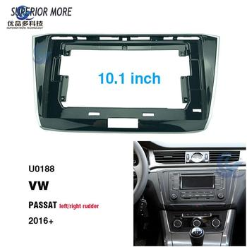 2 Din 10.1 inch car radio Fascias for VW PASSAT 2016 Dashboard Frame Installation dvd gps mp5 android Multimedia player image