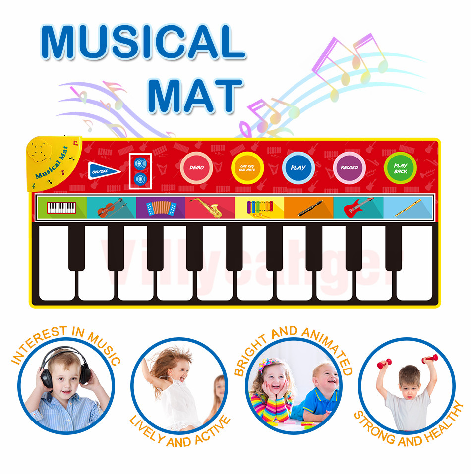 H0968bfc6255b400381f38c508ff02c280 Large Size Musical Mat Baby Play Piano Mat Keyboard Toy Music Instrument Game Carpet Music Toys Educational Toys for Kid Gifts