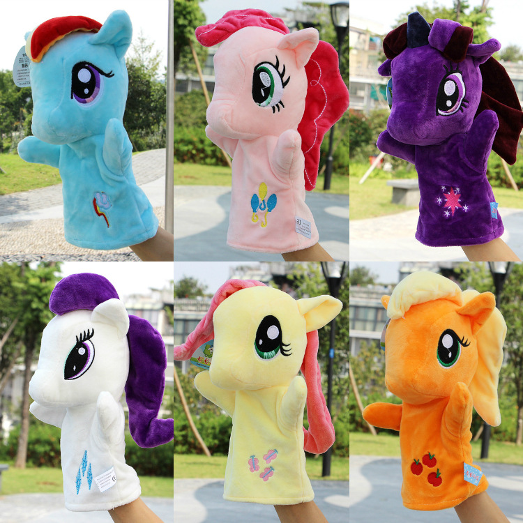 My Little Pony Anime Unicorn Friendship magic Horse Hand puppet Same paragraph Plush Kids Toy Doll Birthday Holiday Gifts 2B42 image