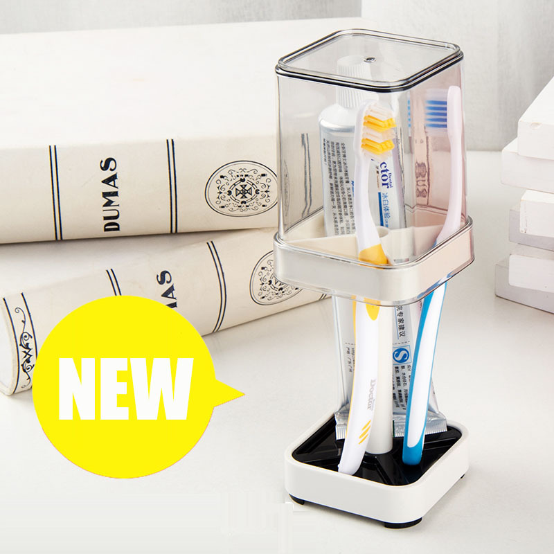 Washing Set Creative Suction Toothbrush Holder Tumbler Toothpaste Toothbrush Cup Washed Travel Portable Cup Toothbrush Case image