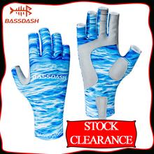 Wyprzedaż wyprzedaż alasso ochrona przed słońcem rękawice wędkarskie bez palców UPF 50 + męskie damskie rękawiczki UV do uprawiania turystyki pieszej tanie tanio Anti-slip Pół palca