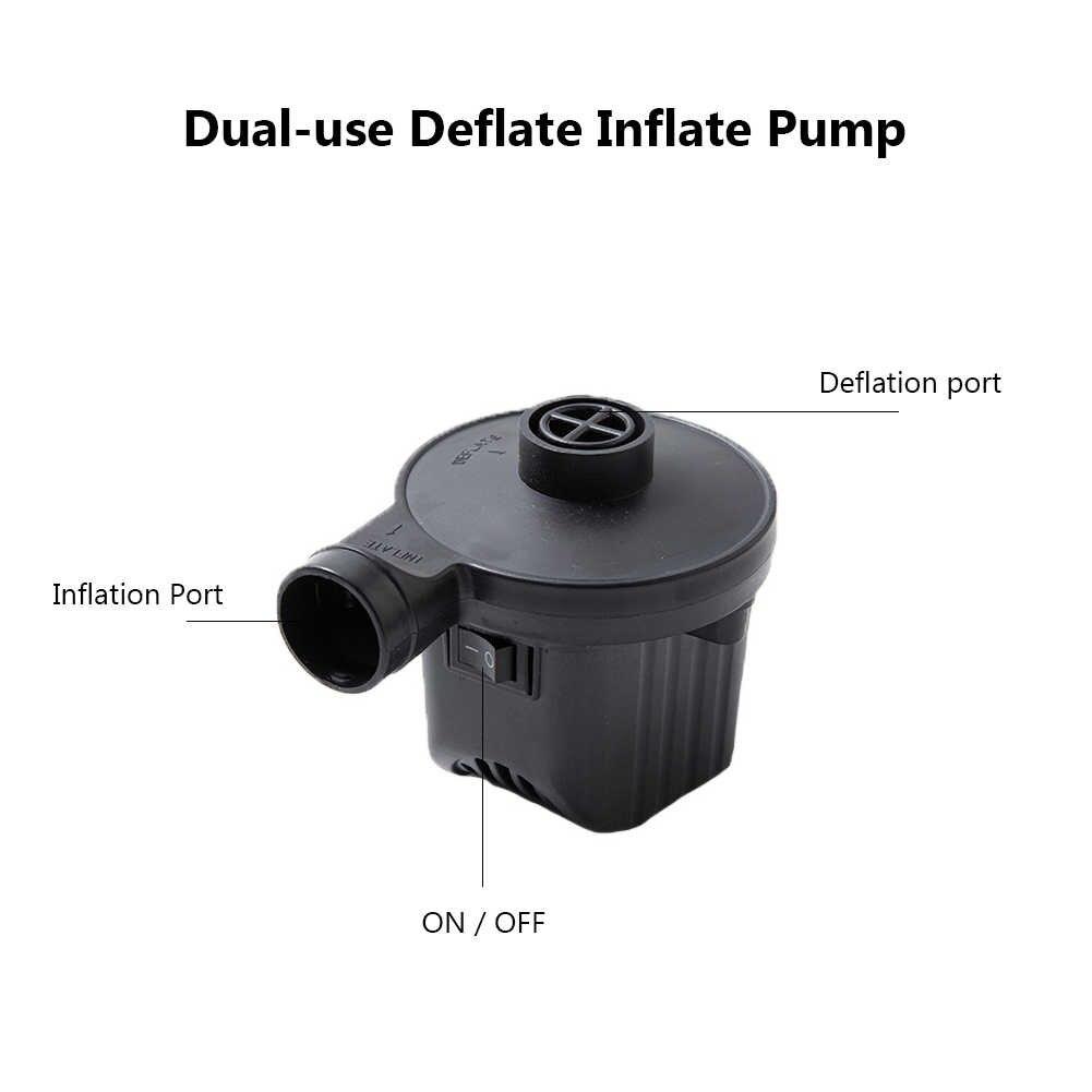 Przenośny do samochodu pompa nadmuchiwana ue US UK wtyczka elektryczny Quick-Fill Inflator obóz materac na łóżko pompa powietrza do samochodu Home Drop shipping