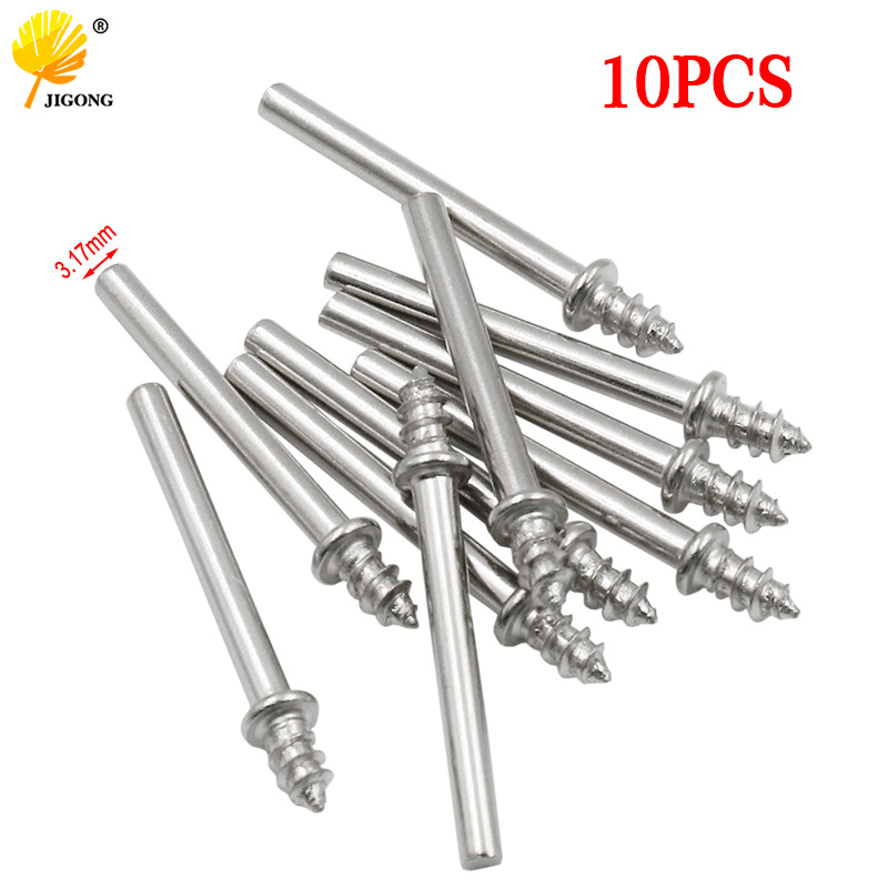 10pcs Grinding Polishing Accessories 3.17mm Rotary Tool Handle