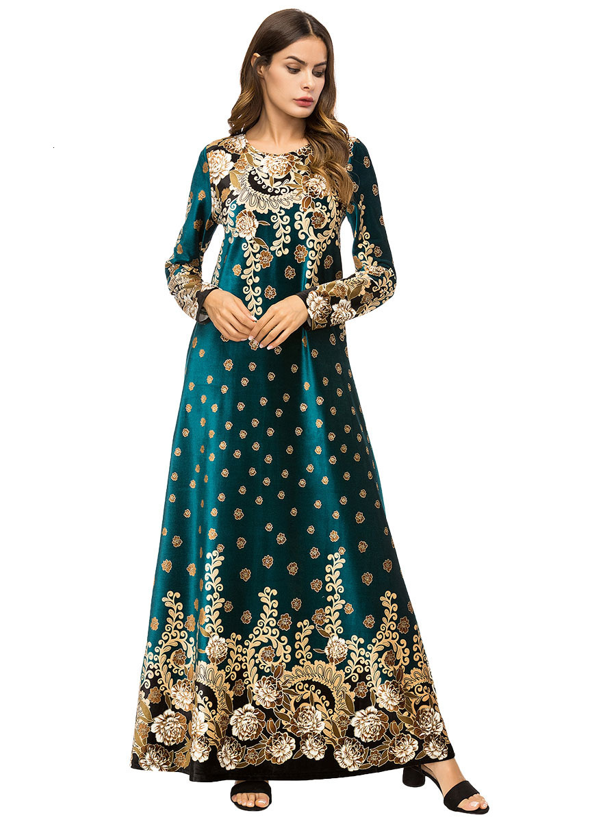 Ukraine Embroidered Velvet Embroidery Woman Indian Sari Clothing Dress Plus Size Boho Muslim Robe Saree Pakistan Eid Mubarak