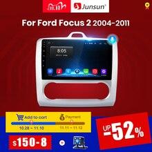 Junsun Radio samochodowe multimedialny odtwarzacz V1, 2G + 32G, Android 10.0 DSP dla ford focus 2 Mk2 wideo, nawigacja, GPS, RDS, 2 din, dvd, 2004 2011