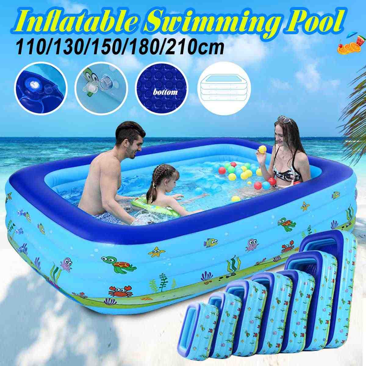 Kids Inflatable Pool Children S Home Use Large Size Square Swimming Pool For Baby Non Toxic And Durable 110 130 150 180 210 Swimming Pool Aliexpress