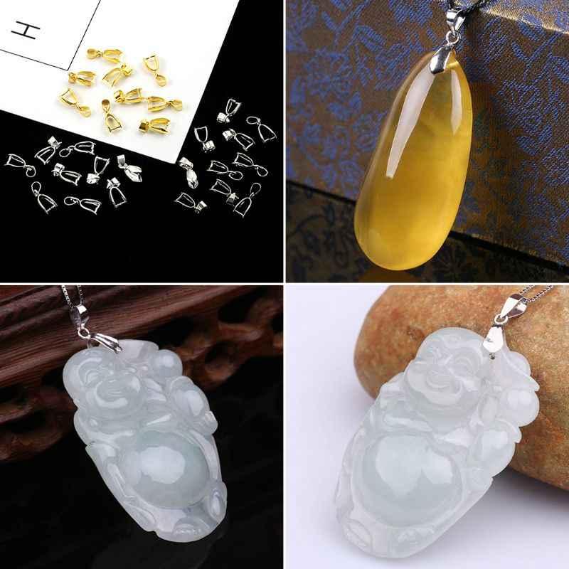 10 Uds./Se, fabricación de joyas, collar, dijes, hebillas, suministros de piedra DIY, broche de unión, aleación, accesorios de oro y plata