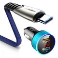 Dual USB Auto Ladegerät 5A Schnelle Charing für huawei P40 P30 P20 Mate 20 30 lite Pro P smart 2019 2018 NOVA 3 Auto USB C Telefon Ladegerät