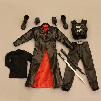 Juego de ropa de cuero con escala 1/6 para cazafantasmas para cuerpo de figura de acción de 12 pulgadas DIY