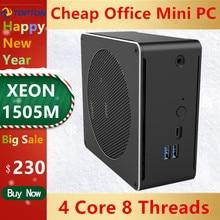 Topton Mini PC Intel Xeon E3 1505M v5 4 Core 8 Thread 2.80 GHz Computer Desktop Win10 Pro 16GB DDR3L AC Wifi 4K Mini DP HDMI