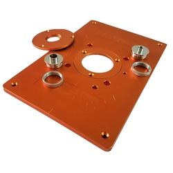 Guarnizioni Macchina di Vibrazione Piatto di Alluminio Tabella di Router Piastra di Inserimento con Boccola e la Copertura per il Legno Elettrico Fresatura Guida Da Tavolo