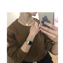 Fashion Jewelry Gold Color Coin Pendant Choker Necklace For Women Girl Gift Party Wear Jewelry luxury 2019 fashion gold queen coin pendant necklaces for women short pearls cross choker necklace girls jewelry gift