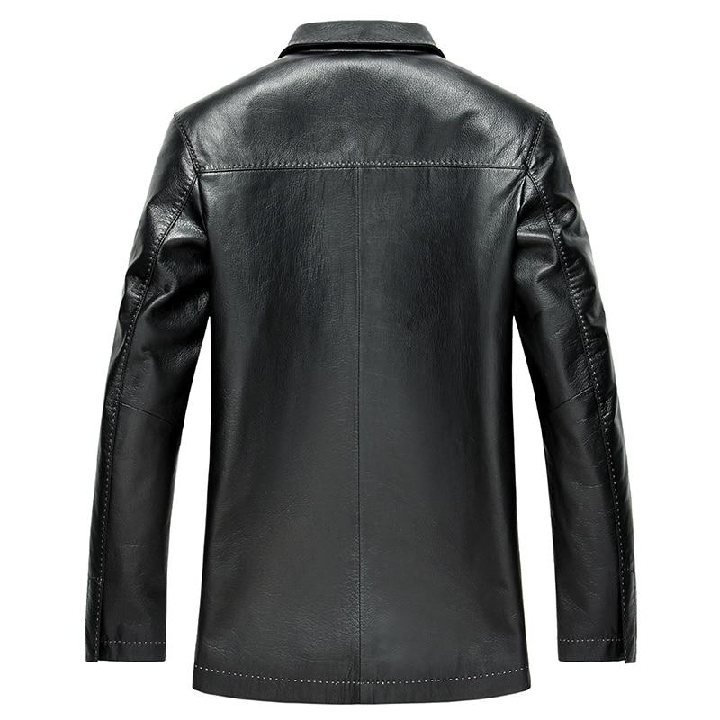 Geniune Leather Jacket For Men Trench Coat Men Spring Autumn Plus Size Jacket Jaqueta De Couro LSD159106 MF144