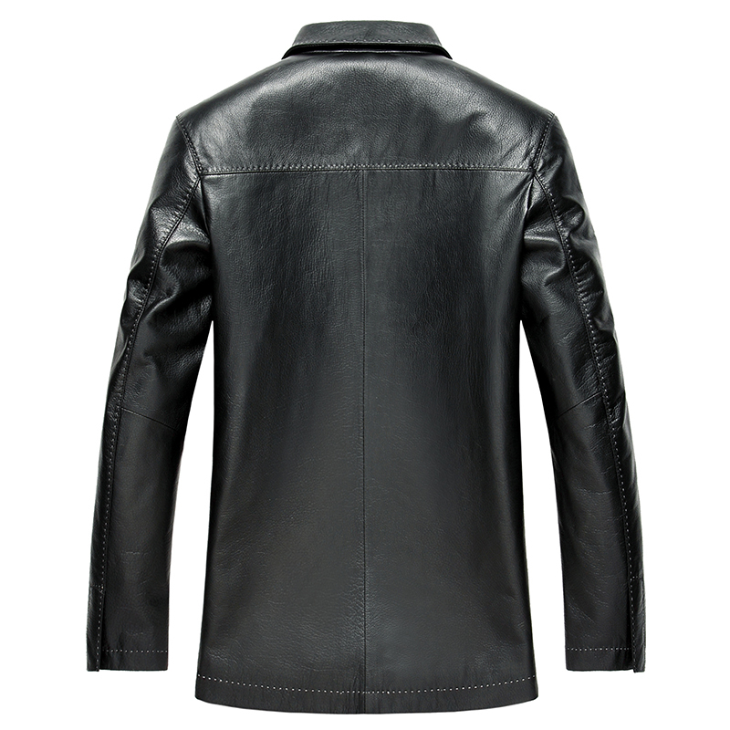 Genuine Leather Jacket 100% Goatskin Leather Coat Windbreaker Men's Leather Jacket Veste En Cuir Homme LSD159106 KJ1634