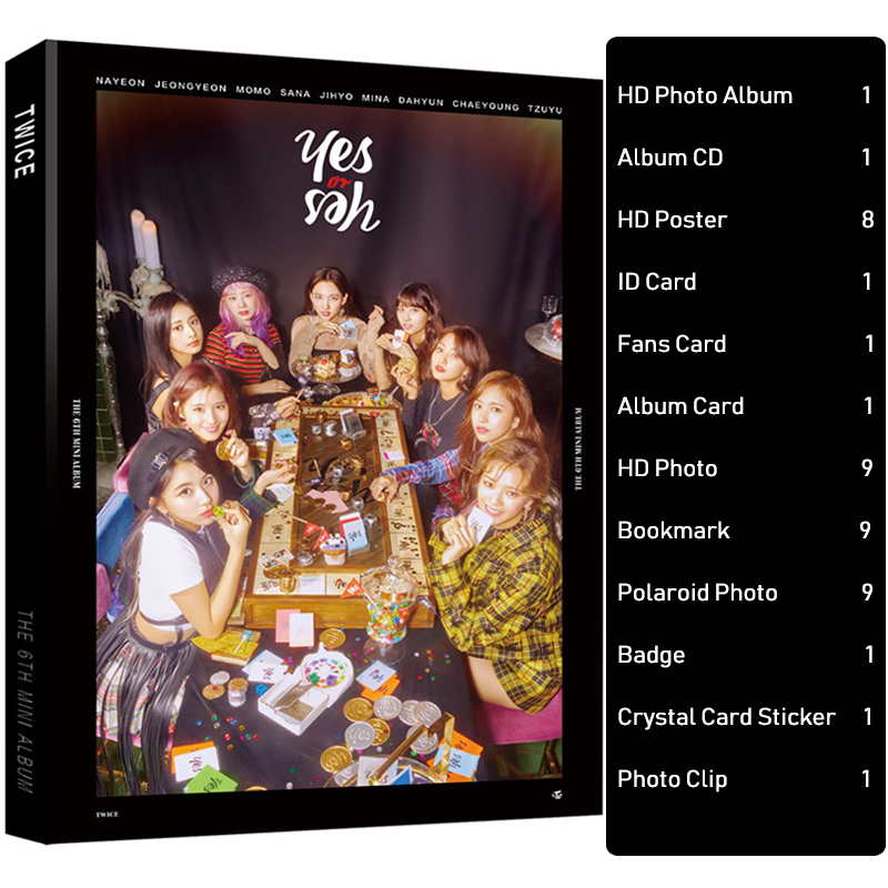 Fashion KPOP TWICE Photo Album Set Signature Poster TWICE Card Sticker Badge Fans Gift TWICE Peripheral Products Drop Shipping