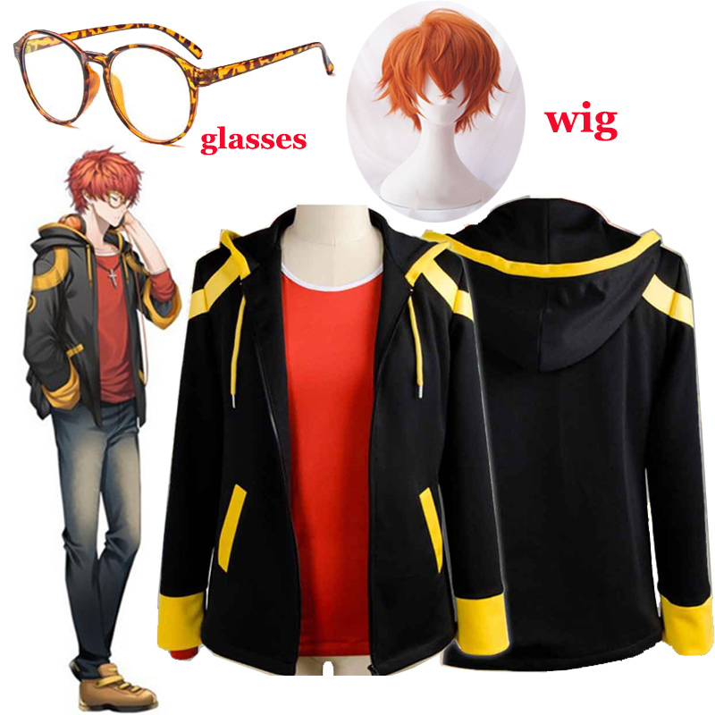 Games Mystic Messenger 707 Cosplay Costume EXTREME Saeyoung/Luciel Choi 7 Outfit Hoodies Sweatshirts For Men Boys Halloween Coat