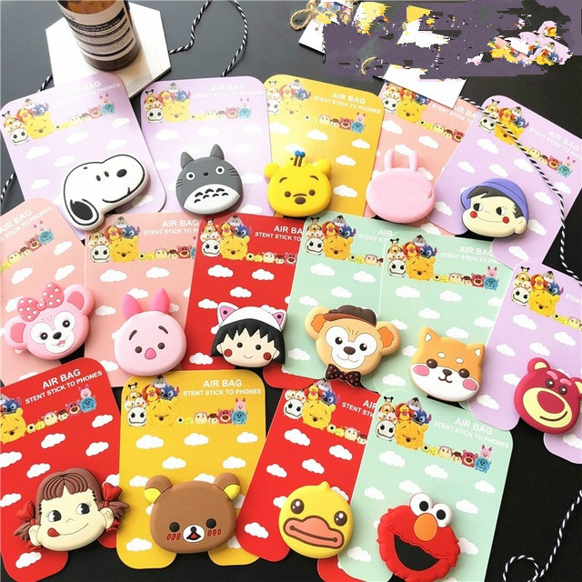 Wholesale Socket Universal Mobile Phone Elastic Bracket Cartoon Cat Claw Airbag Mobile Phone Telescopic Mobile Phone Bracke