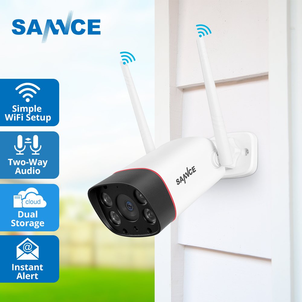 SANNCE 1080P FHD IP Camera 2MP Wireless WiFi Security Camera Infrared Night Vision Surveillance Baby Monitor Bullet CCTV Camera