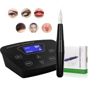 Image 5 - Penna professionale per kit di tatuaggi per sopracciglia a macchina rotante per trucco permanente di alta qualità per Set di tatuaggi per labbra per Eyeliner per sopracciglia