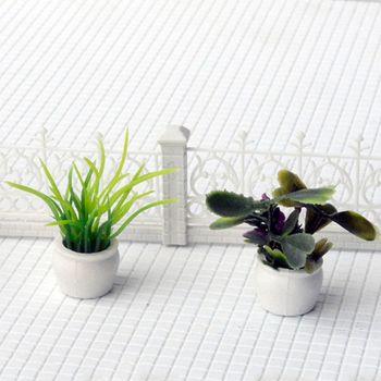 Set of 7 Dollhouse Miniature Pot Flowers Landscape DIY Sand Table Plant Model L41D