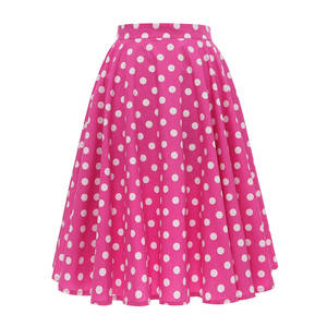 Short-Skirts Polka-Dot Clothings Tutu Sundress Midi Floral-Print A-Link Black Plus-Size