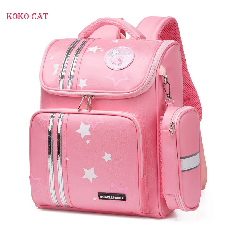 Primary 1-3 Grade School Bag For Girls Children Orthopedic Backpack Kids Cartoon Waterproof Book Bag Mochila Infantil Escolares